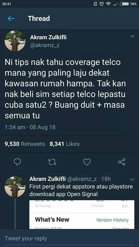 Tip Nak Check Coverage Telco Mana Paling Laju Di Kawasan Rumah