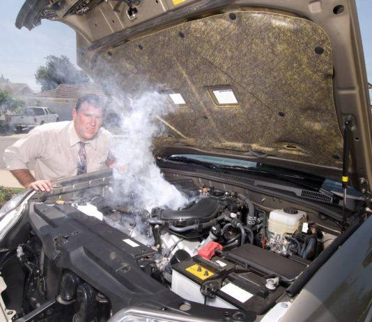 kereta rosak panas enjin