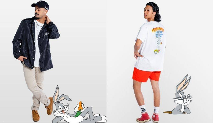 peslte & mortar clothing looney tunes