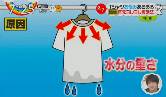 Cara Repair Leher T-shirt Kembang & Regang Ke Bentuk Yang Asal