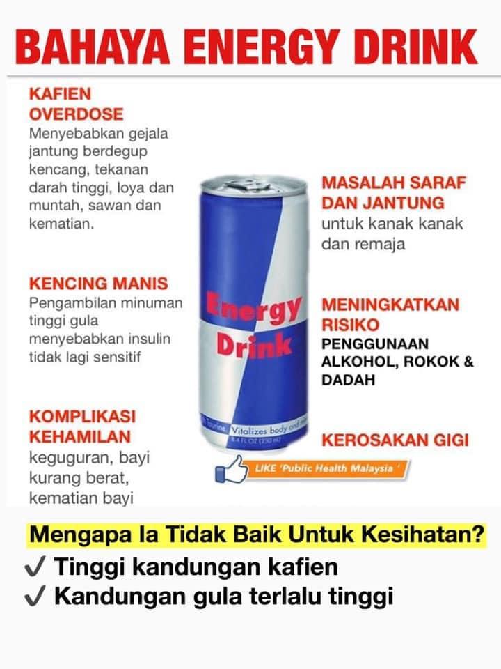 Hati-Hati, Minuman Tenaga Boleh Tingkatkan Risiko Strok Sehingga 5 Kali Ganda!