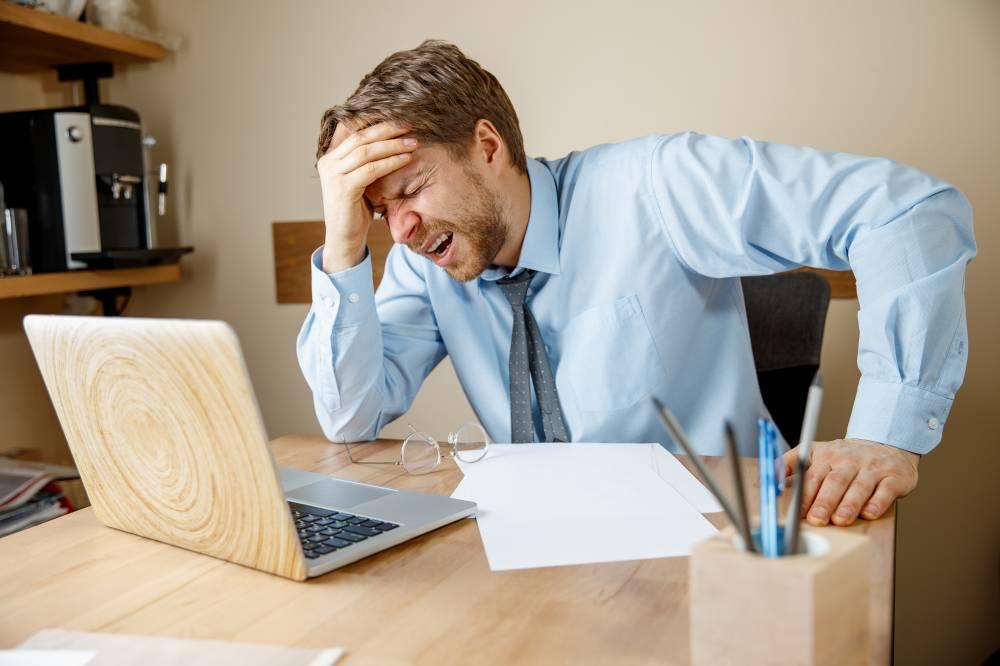 berdepan tekanan kerja petanda