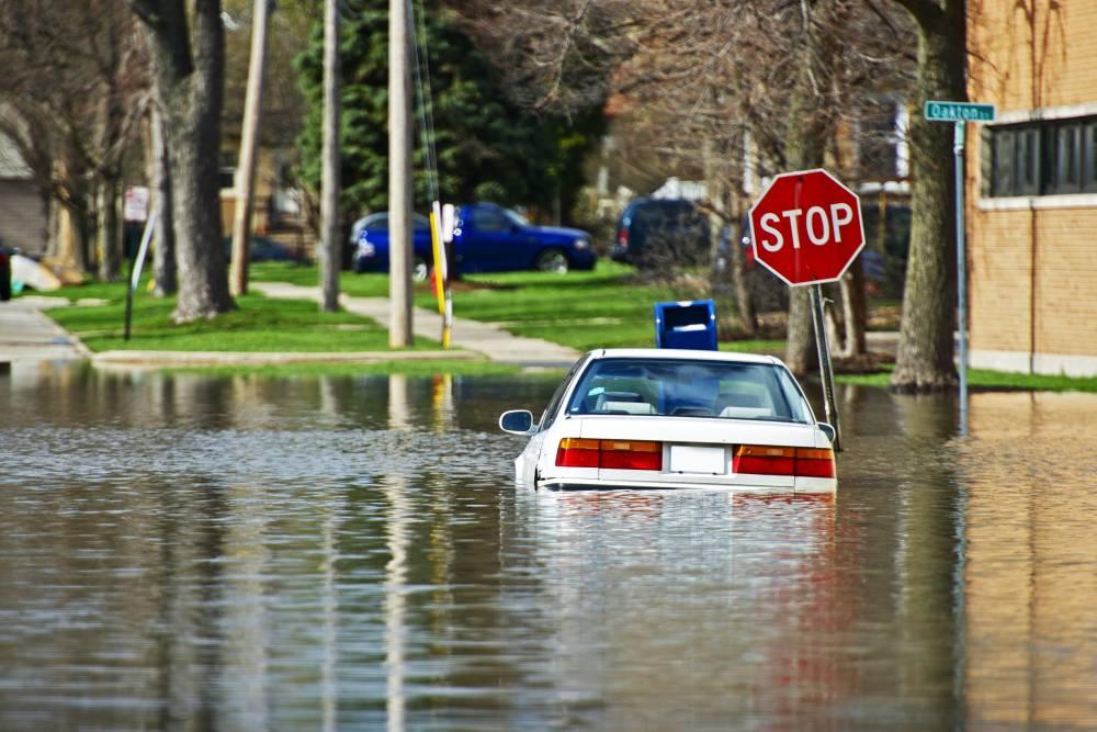 parking kereta hujan elak